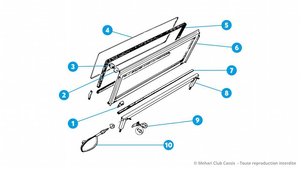 pare brise cadre aluminium m hari technique mcc. Black Bedroom Furniture Sets. Home Design Ideas