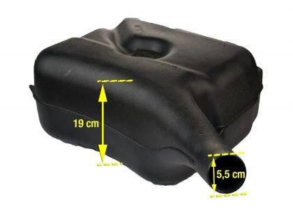 Dimensions du réservoir plastique origine
