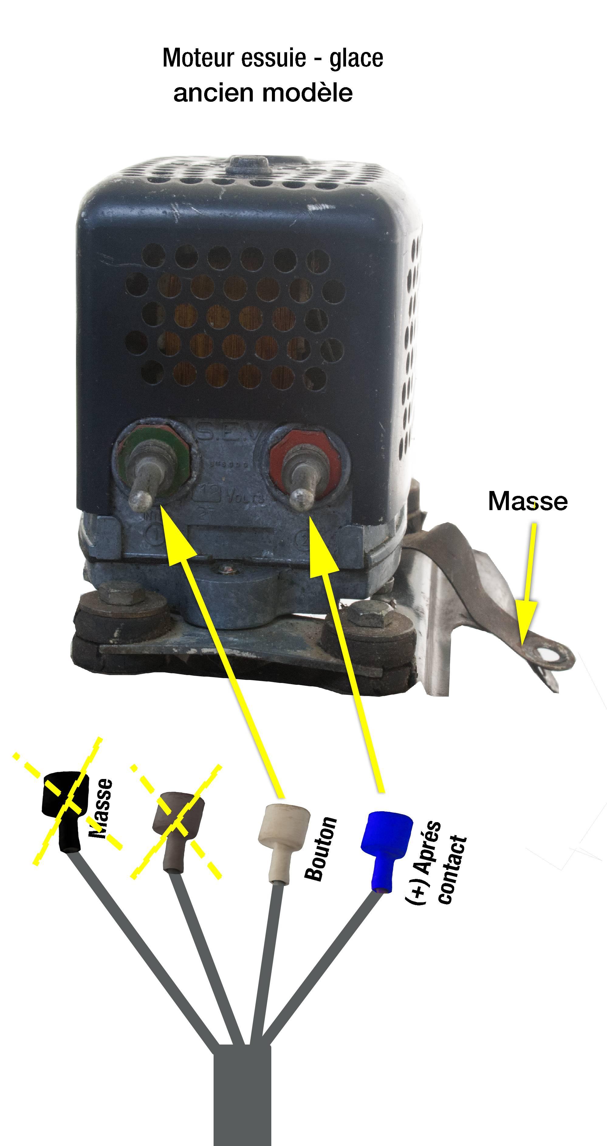 Tableau de raccordement du moteur
